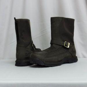 """Rear Zip 10"""" Dark Brown Men's Danner Boots Sz 13"""